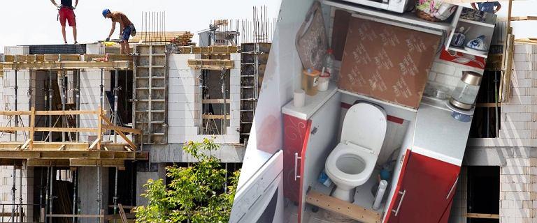 Toaleta w kuchni, pokój na balkonie. Pytamy prawniczkę, czy patodeweloperka jest legalna [ZDJĘCIA]