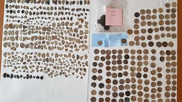 Skarb znaleziony przez grzybiarza pod Strzelinkiem
