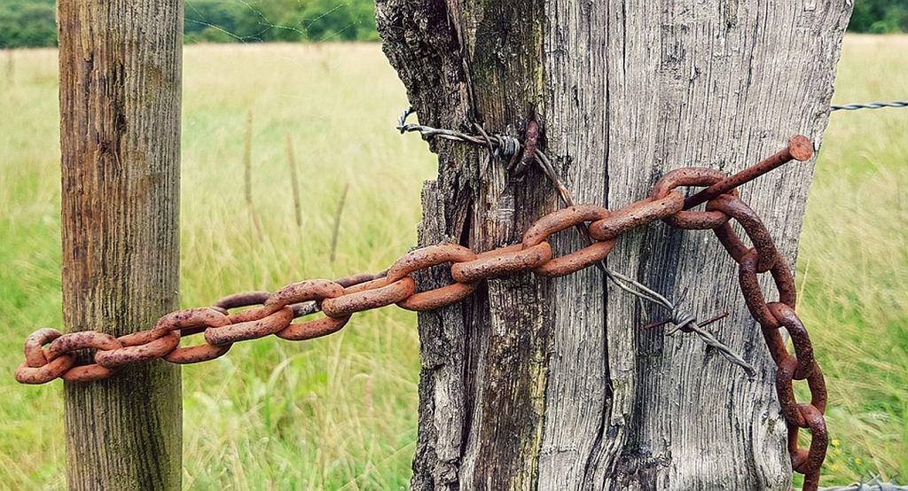 Ojciec przykuł syna łańcuchem do bramy