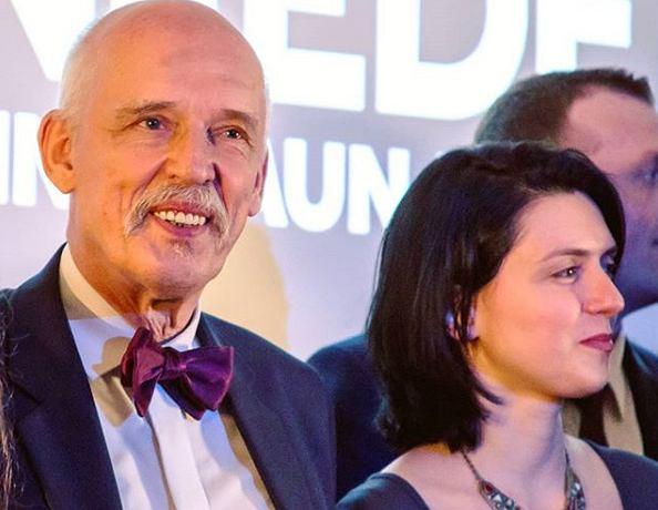 Janusz Korwin-Mikke i jego żona Dominika