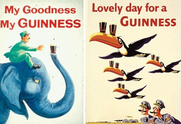 Spośród wszystkich maskotek, które reklamowały piwo Guinness, największą sławę i sympatię zyskały tukany, które można dziś zobaczyć nawet na dublińskich muralach
