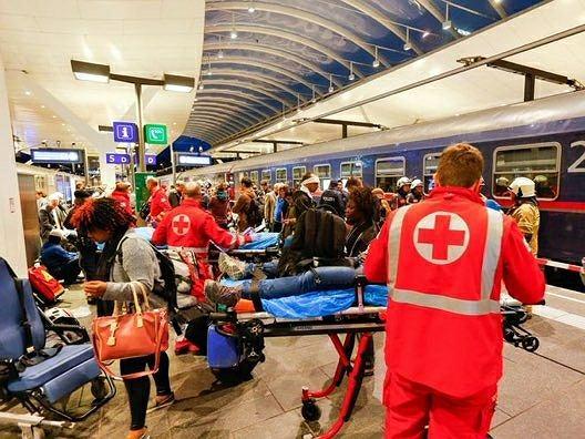 Wypadek na dworcu kolejowym w Salzburgu