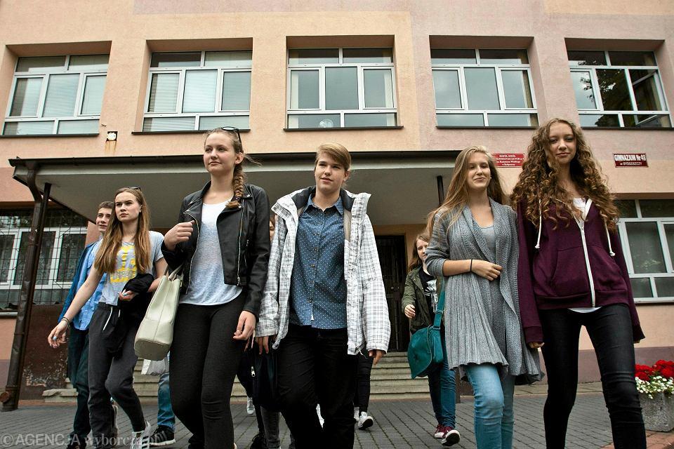 Uczniowie jednego z gimnazjów w Bydgoszczy