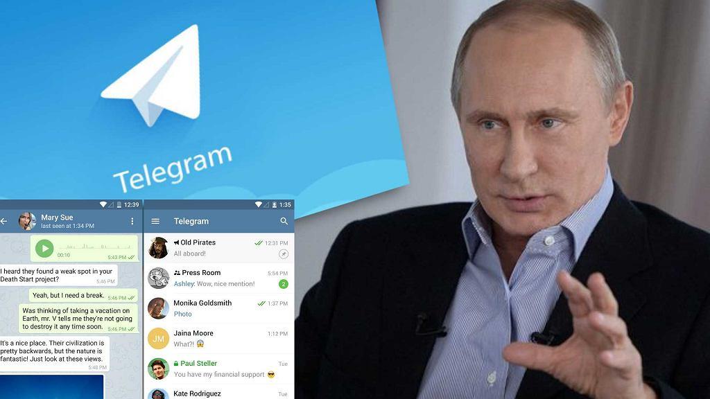 Władimir Putin wydał wojnę komunikatorowi Telegram