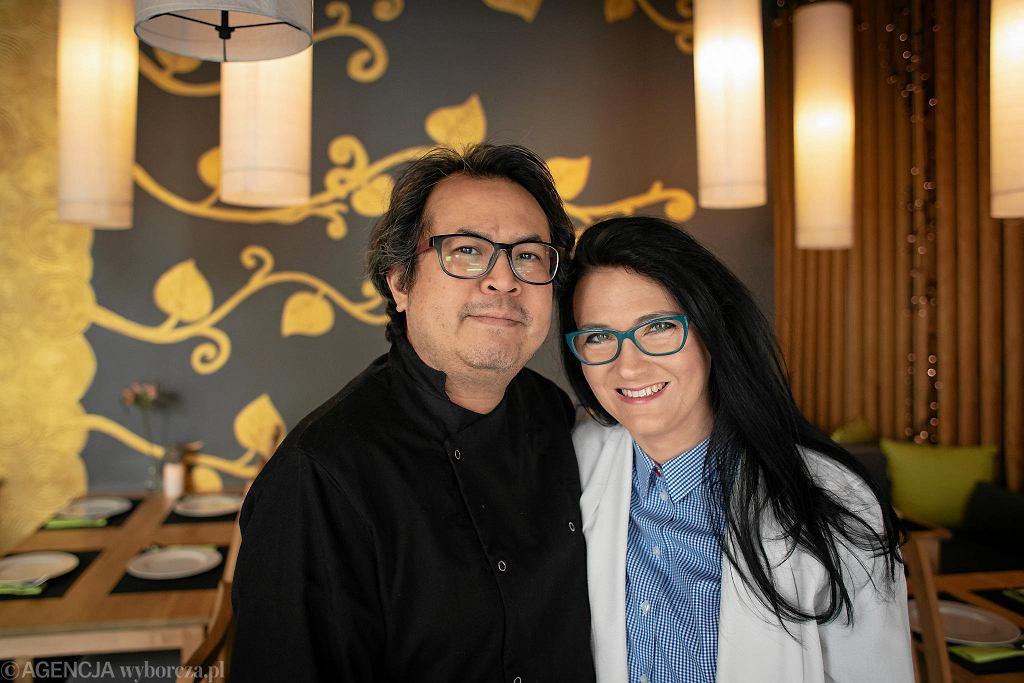 Właściciele restauracji tajskiej Basil & Lime Thanawat Na Nagara i Dorota Doborowlska Na Nagara / DAWID ZUCHOWICZ