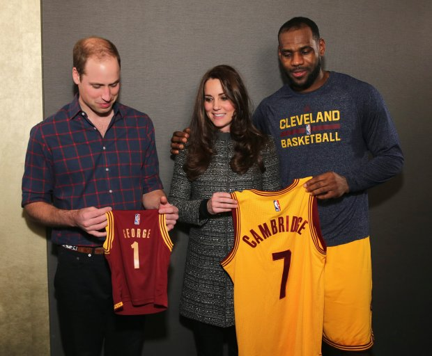 Książę William, księżna Kate i LeBron James