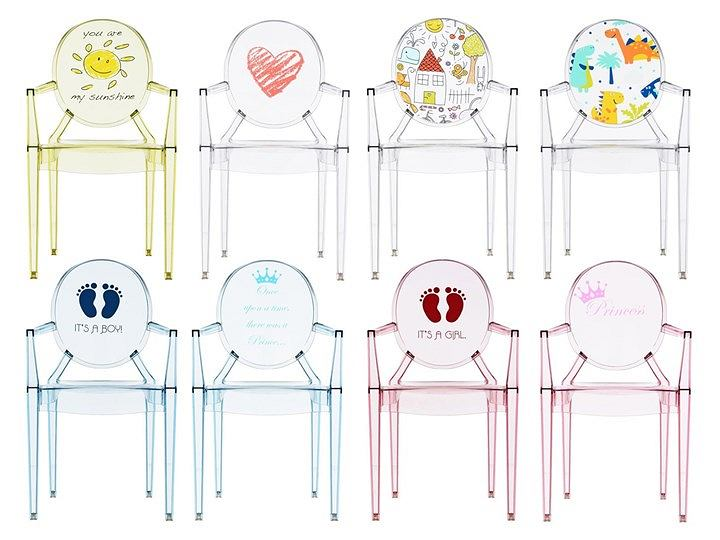 Krzesełka dla dzieci marki Kartell