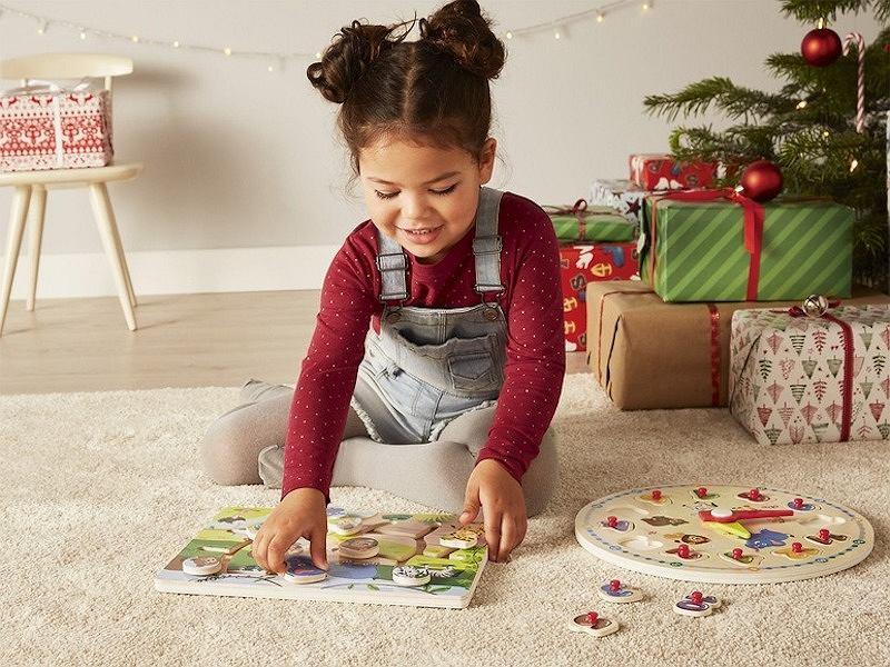 Drewniana zabawka edukacyjna PLAYTIVEJUNIOR marki LIDL