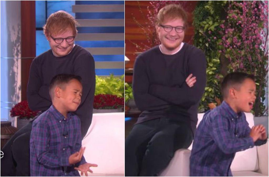Ed Sheeran zaskoczył fana w programie Ellen DeGeneres