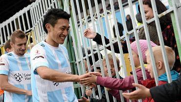 Pomocnik Yasuhiro Kato (na zdj.)