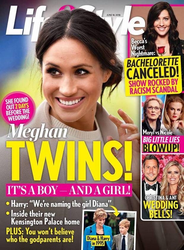 Meghan Markle w ciąży bliźniaczej. Okładka magazynu 'Life&Style'