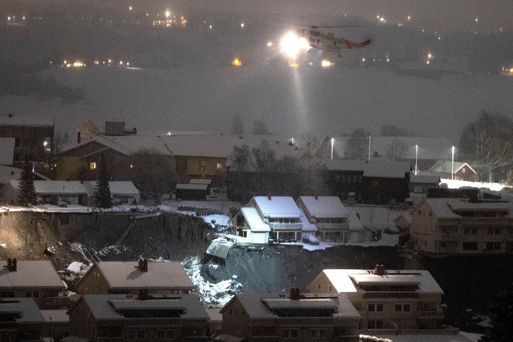 Akcja ratunkowa po osuwisku ziemi w Norwegii