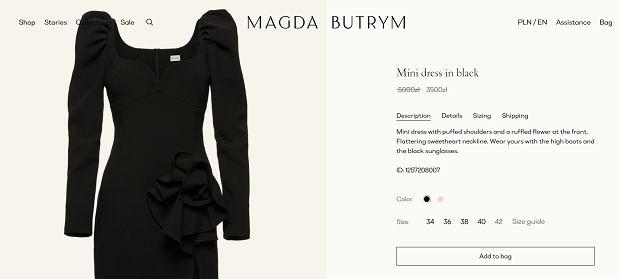 Sukienka projektu Magdy Butrym