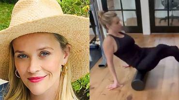 Reese Witherspoon pokazała domową siłownię