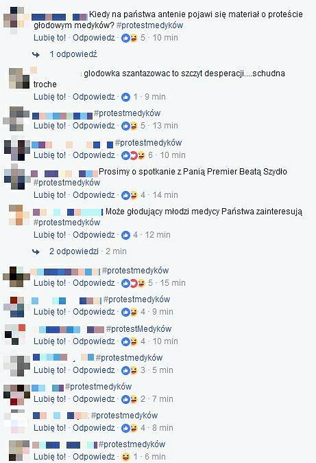 Komentarze na profilu TVP Info