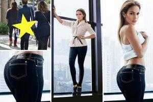 Kilka tygodni temu piosenkarka wypuściła na rynek swoją najnowszą, jesienną kolekcję ubrań i dodatków - J.Lo by Jennifer Lopez. Na zdjęciach z sesji do katalogu kształty gwiazdy powinny być dopieszczone przez grafików. Czy rzeczywiście tak było, widać najlepiej porównując fotografie z kampanii z tymi zrobionymi artystce na ulicy przez paparazzi. To te same jeansy!