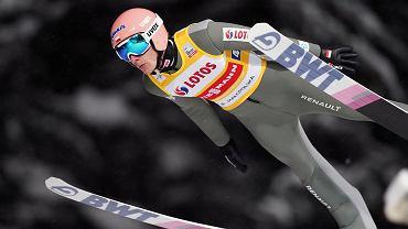 Dawid Kubacki podczas druzynowego konkursu skokow Pucharu Swiata w skokach narciarskich, Zakopane 16.01.2021