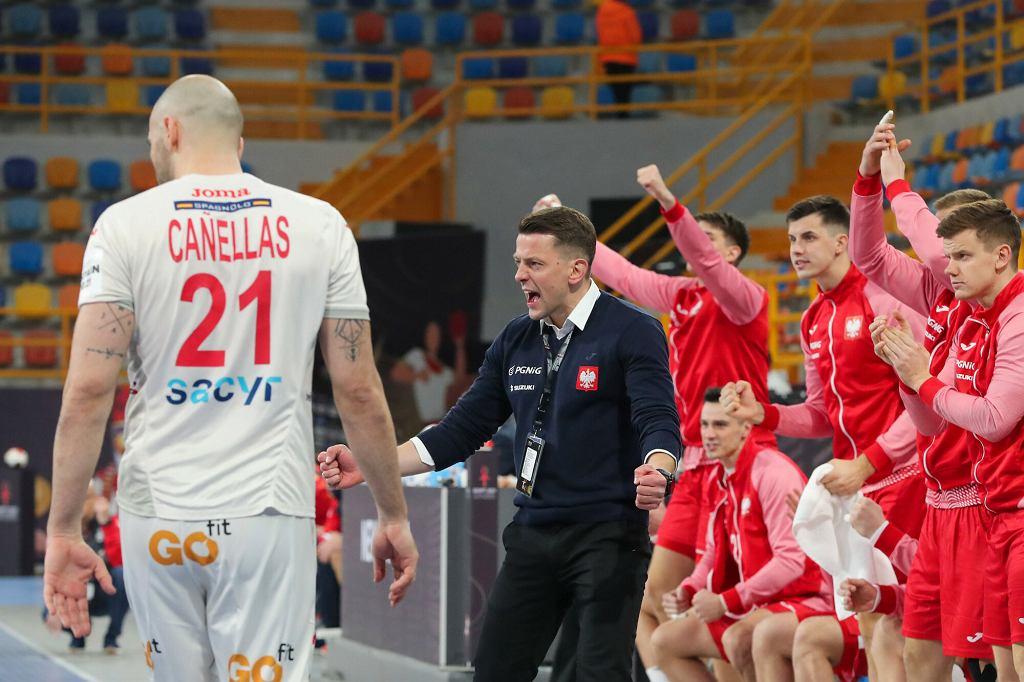 Mecz piłki ręcznej Polska - Hiszpania na Mistrzostwach Świata w Egipcie, 17.01.2021