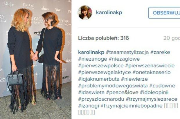 Jessica Mercedes, Maffashion, Screen z Instagrama Karoliny Korwin Piotrowskiej