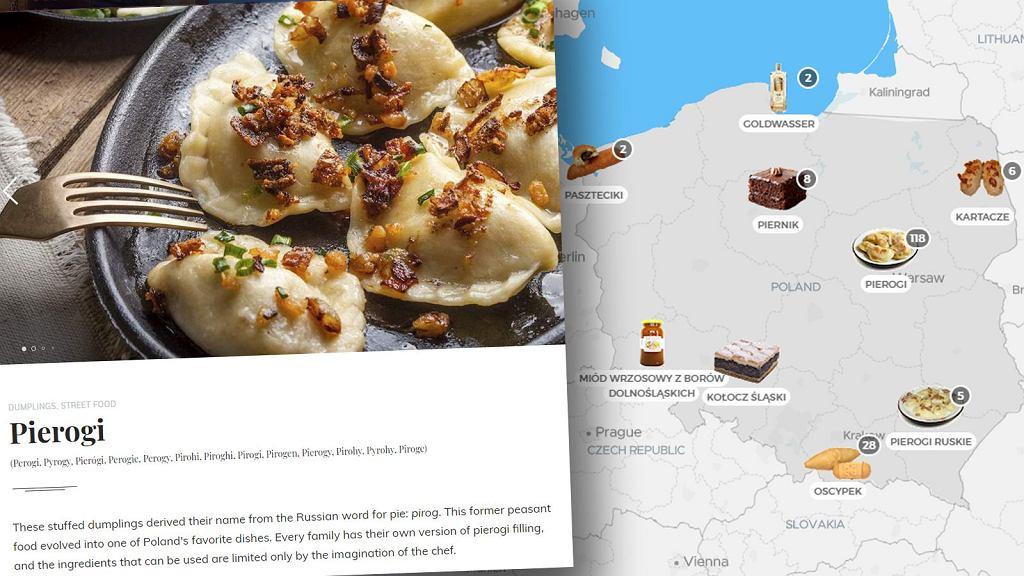 Taste Atlas to utworzona przez Babića mapa świata z dopisanymi do poszczególnych regionów charakterystycznymi daniami