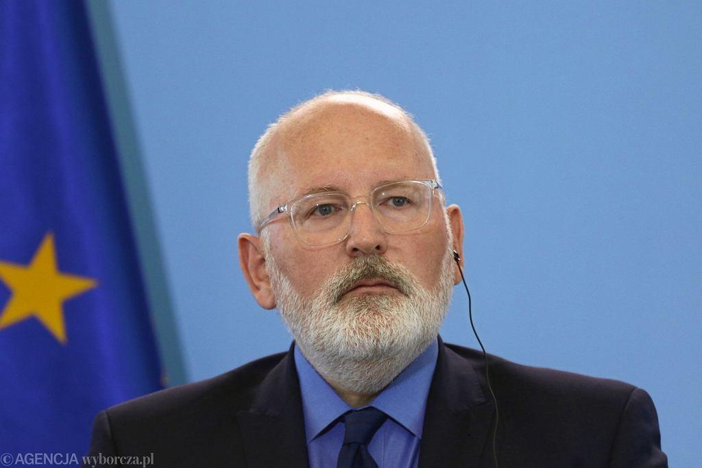 Frans Timmermans, wiceszef Komisji Europejskiej (fot. Sławomir Kamiński/AG)