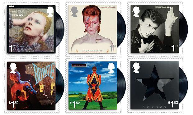 Znaczki z Davidem Bowiem