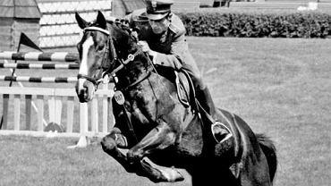 Jan Kowalczyk na koniu Artemor