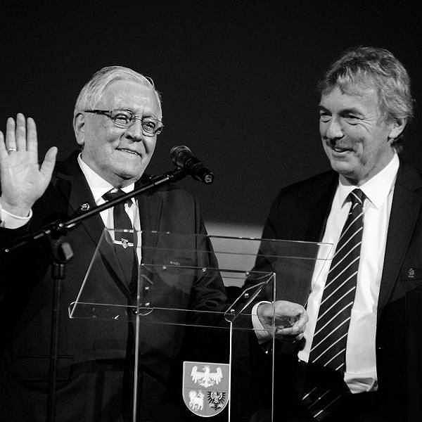 Alojzy Jarguz i Zbigniew Boniek