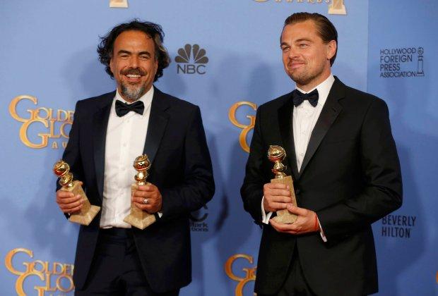 Zdjęcie numer 0 w galerii - Złote Globy 2016: Radość DiCaprio, Lawrence w czerwieni, Lady Gaga tuli statuetkę [ZDJĘCIA]
