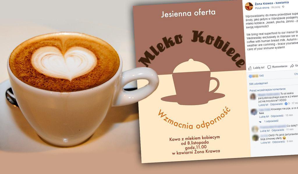 'Żona Krawca' to pierwsza kawiarnia w Polsce, która będzie sprzedawać kawę z kobiecym mlekiem