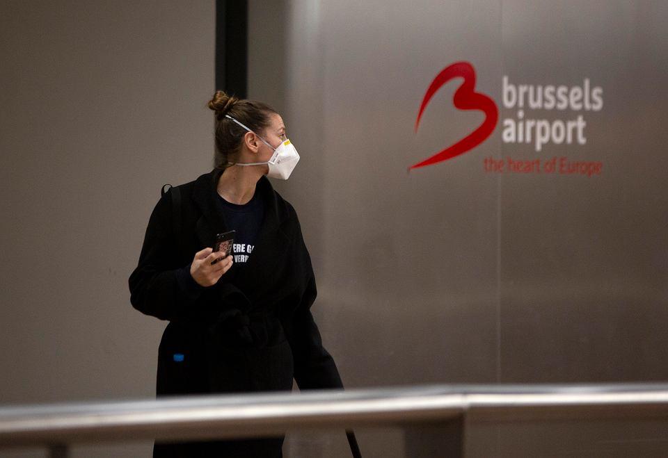 Lotnisko w Brukseli, 13 marca 2020 r.