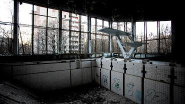 Prypeć, zwana też miastem widmem, cztery kilometry od Czarnobylskiej Elektrowni Jądrowej, Ukraina