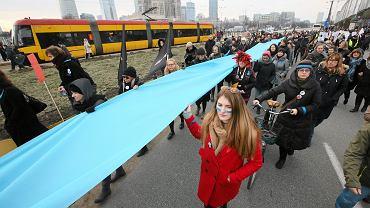 Happening 'Niebieska Linia' - Dzień kobiet, Warszawa