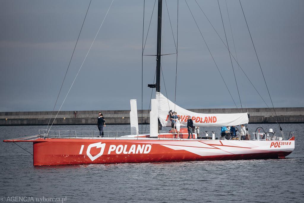 Jacht 'I love Poland', który ma promować Polskę.