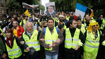 Protest 'żółtych kamizelek' w Paryżu, 11 maja 2019.