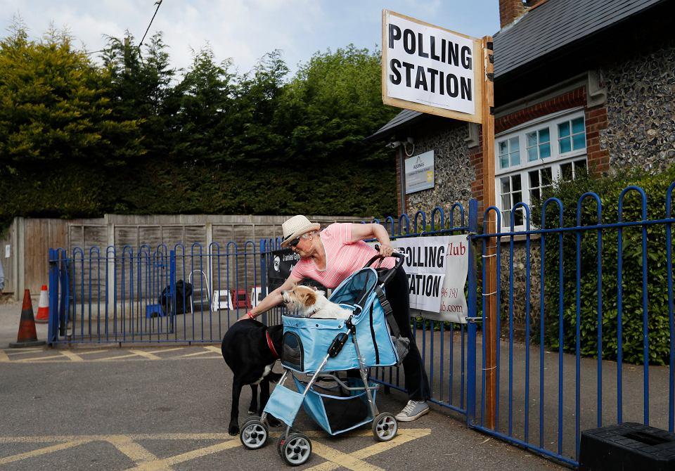 23.05.2019, Biggin Hill, Wielka Brytania, głosowanie w wyborach do Parlamentu Europejskiego.