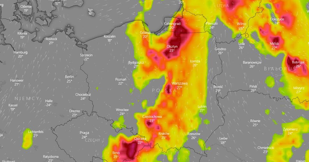 Gdzie jest burza? Ostrzeżenia meteorologiczne IMGW
