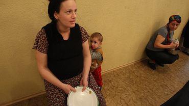 Czeczeńscy uchodźcy w ośrodku w Lublinie