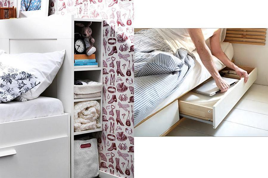 Schowek pod łóżkiem na książki