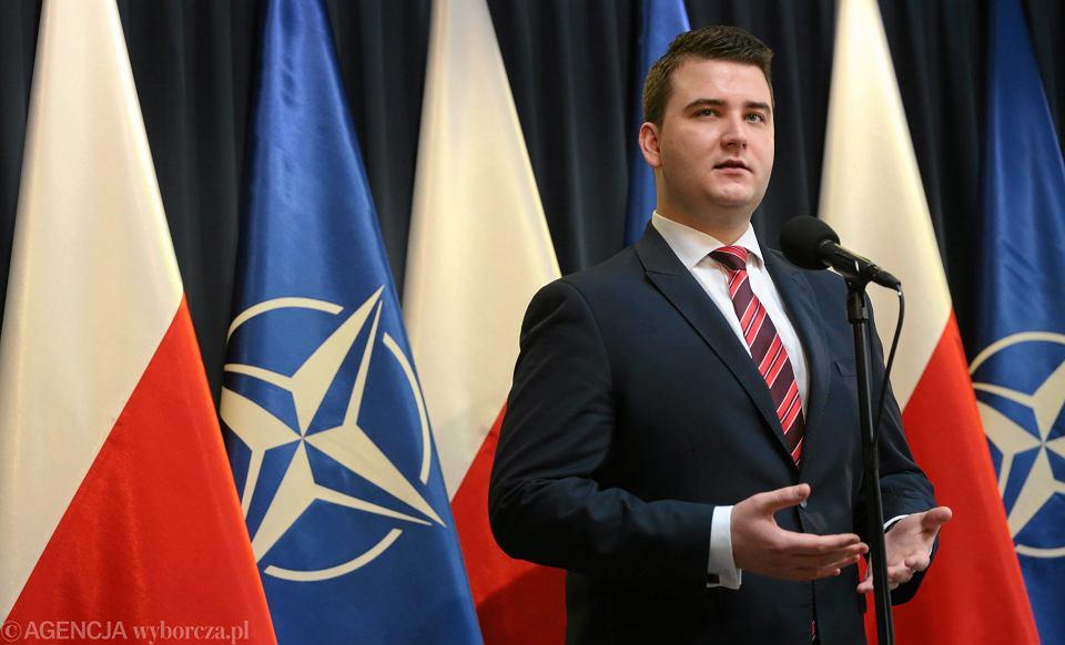Szef gabinetu politycznego ministra obrony Bartłomiej Misiewicz