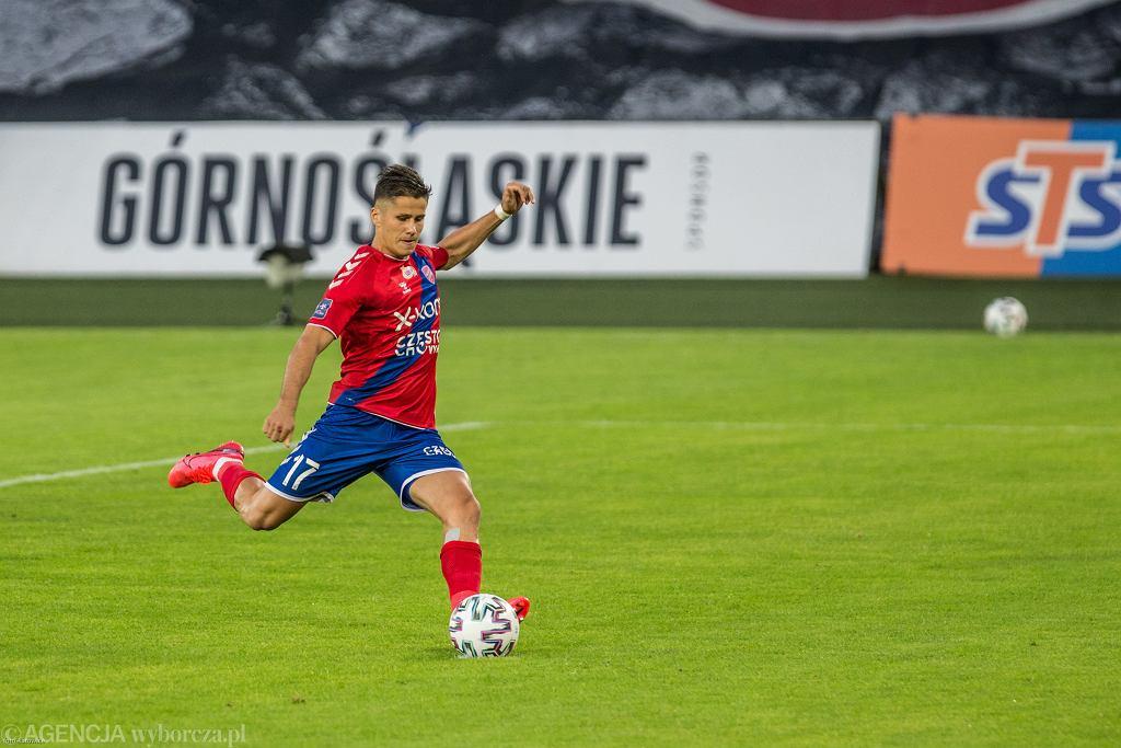 Petr Schwarz w meczu Raków Częstochowa - Górnik Zabrze