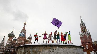 Pussy Riot na Placu Czerwonym w Moskwie