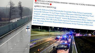 Wypadek na Południowej Obwodnicy Warszawy