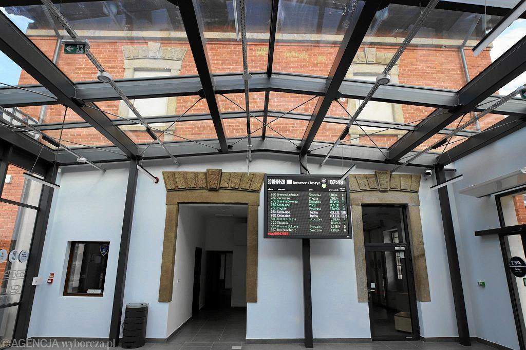 Odnowiony dworzec PKP w Cieszynie