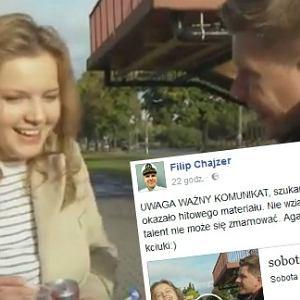 Filip Chajzer szuka bohaterki ostatniego materiału wideo