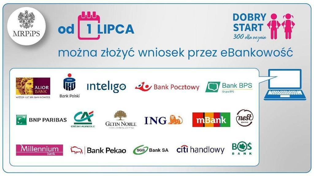 Od 1 lipca wnioski o 'Dobry Start' można składać przez bankowość elektroniczną