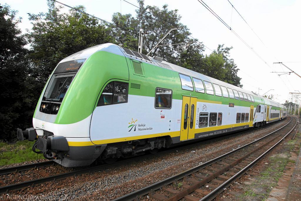 Piętrowy pociąg typu push & pull wykorzystywany przez Koleje Mazowieckie. Niewykluczone, że podobne składy będą wkrótce wozić pasażerów na Półwysep Helski