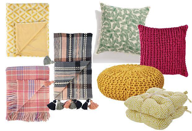 Kocyki i poduszki na piknik od TK Maxx