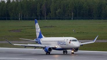Samolot białoruskich linii Belavia