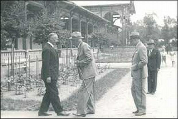 Dworek Prezydenta RP w Ciechocinku. Na zdjęciu wizyta prezydenta Ignacego Mościckiego (4.06.1932 r.)